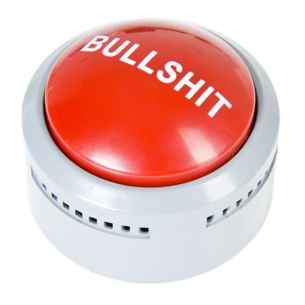 GESCHENK Panik Knopf Bullshit Button Detektor Schreibtisch Gadget Geschenkidee
