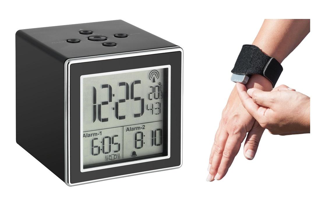 PROFI Funk Wecker Vibrationsarmband Wecken Vibration vibrierender 2 Alarm Licht
