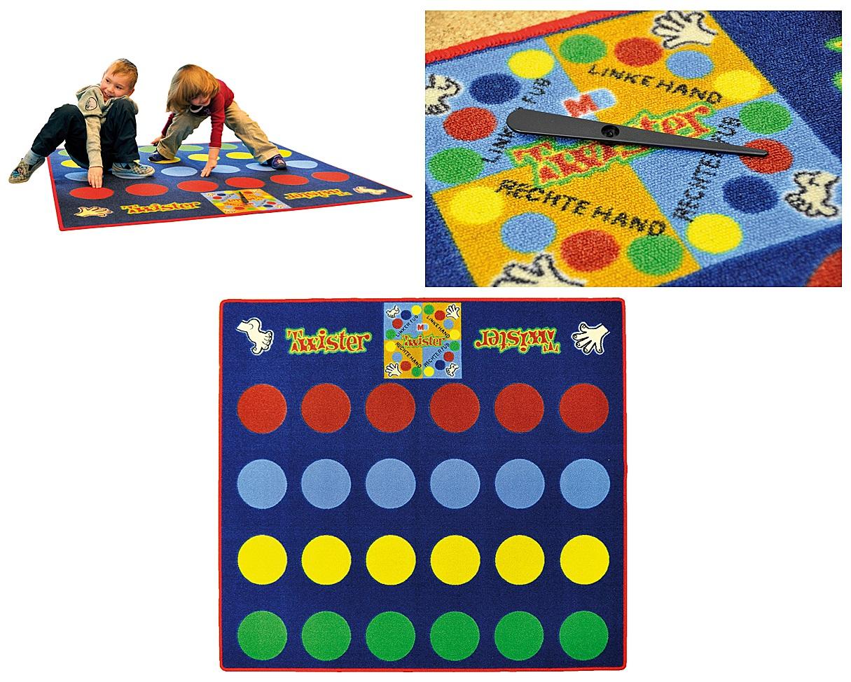 EDEL Teppich Spielteppich Twister Kinderzimmer Spiel