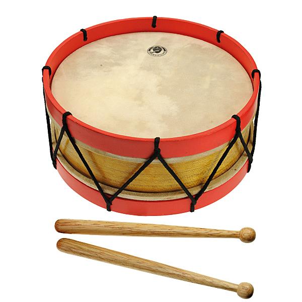 EDEL XL Trommel Basstrommel Bassdrum Holztrommel Holz mit Sticks Schlagzeug 23cm