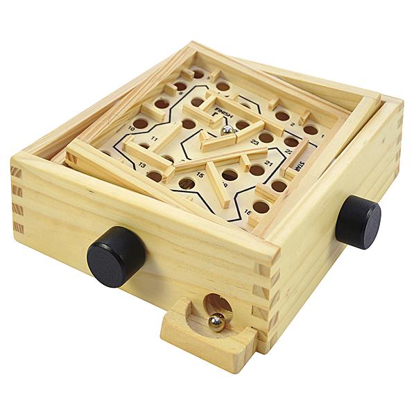 EDEL Geduldspiel Labyrinth Brettspiel Holz Kugel Kugellabyrinth Tischspiel 16cm