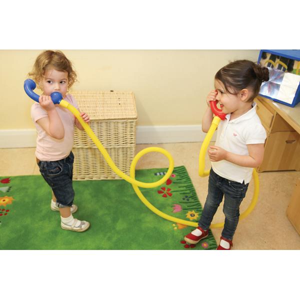 Telefonschlauch Schlauchtelefon Mundmotorik Sprechen lernen Kinder Stille Post