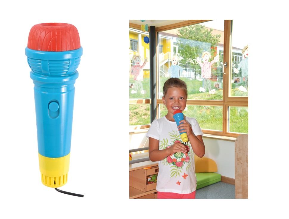 SPIEL Echomikrofon Mikrofon Echo Geräusch simulieren eigene Stimme hören singen