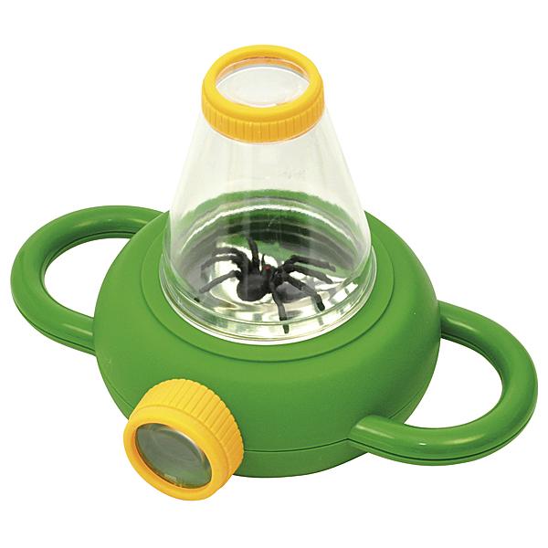PROFI 2 Wege Lupendose Spinnen beobachten einfangen Käfer Fliegen Ameisen Bienen