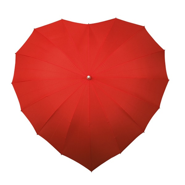 XXL Herz Regenschirm Herzform Valentinstag Geschenk Schirm der Liebe für Paare