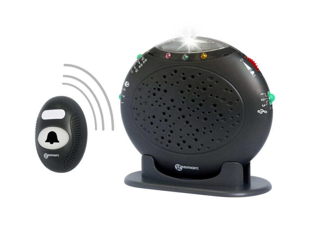 Optische & akustische Warnanlage f Festnetztelefone Funk Türklingel Amplicall 20