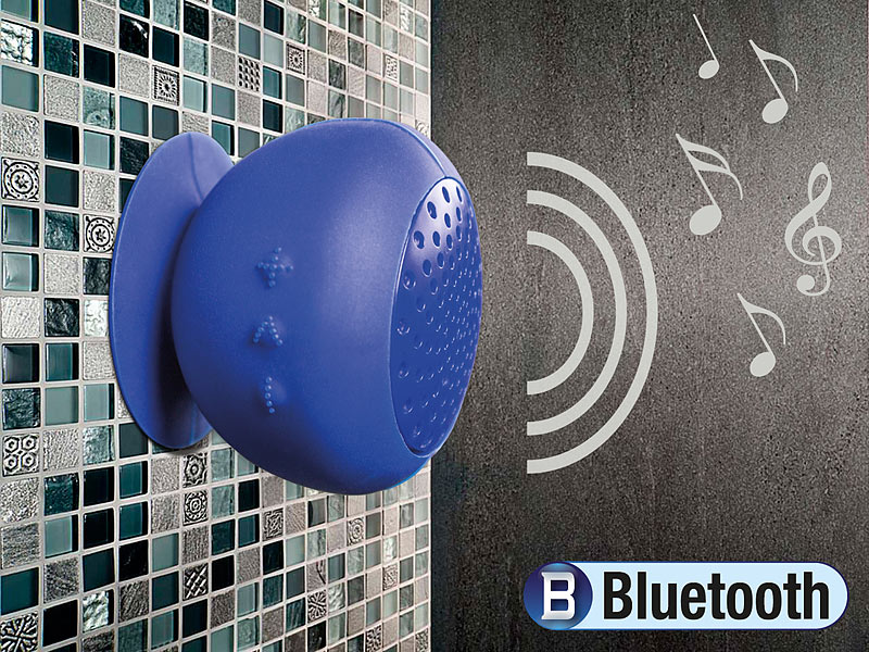 BOX Bluetooth Lautsprecher aktiv Duschradio Badezimmer Wasserfest Batterie Akku