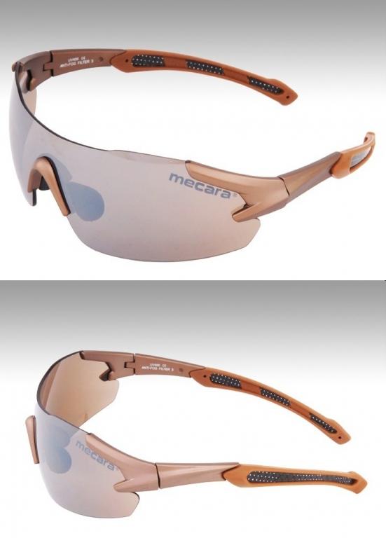 PREMIUM Sonnenbrille BRONZE Sport Brille rahmenlos UV400 Ski Fahrrad Antifog