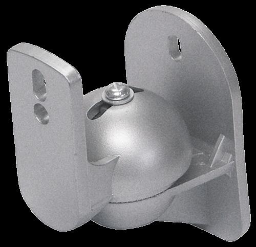 PROFI 2x Wandhalter PAAR Halter für Boxen Lautsprecher SILBER Wandhalterung Wand