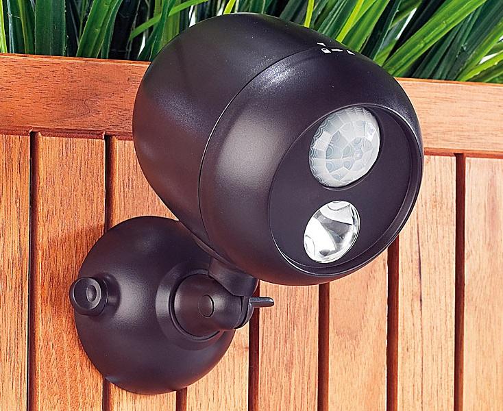 PREMIUM Kabellose Außenleuchte mit PIR Bewegungsmelder Lampe Garten Einfahrt