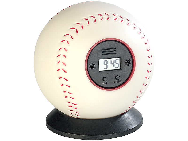PROFI Baseball Wurfwecker Wecker Alarm Geschenktipp Uhr Standuhr Kinder