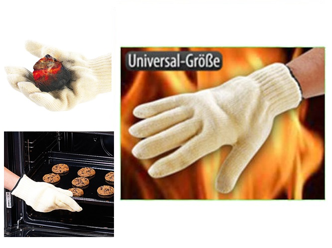 PROFI Hitzeschutz Handschuh Grillhandschuh Grill Ofen Schutzhandschuh