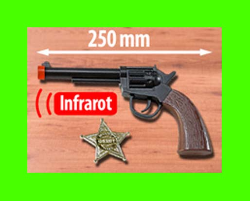 LUXUS Universal TV Fernbedienung Pistole Revolver Cowboy Fun Geschenktipp