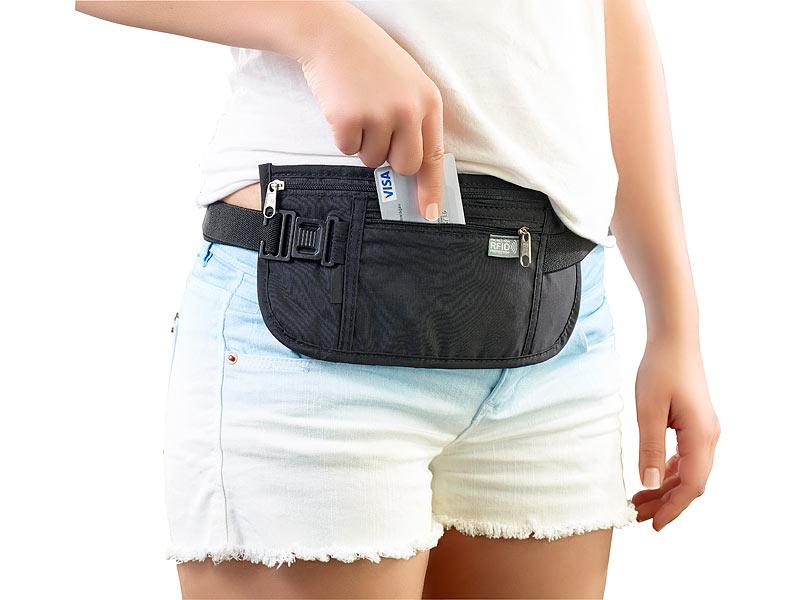Gürteltasche Bauchtasche Geldbeutel Geldtasche Tasche RFID Blocker Reisetasche