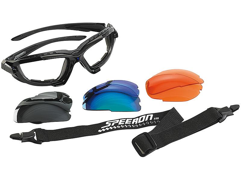 LUXUS Sonnenbrille Sport Brille Kontrastbrille Polar Gläser Anti Beschlag 3x SET
