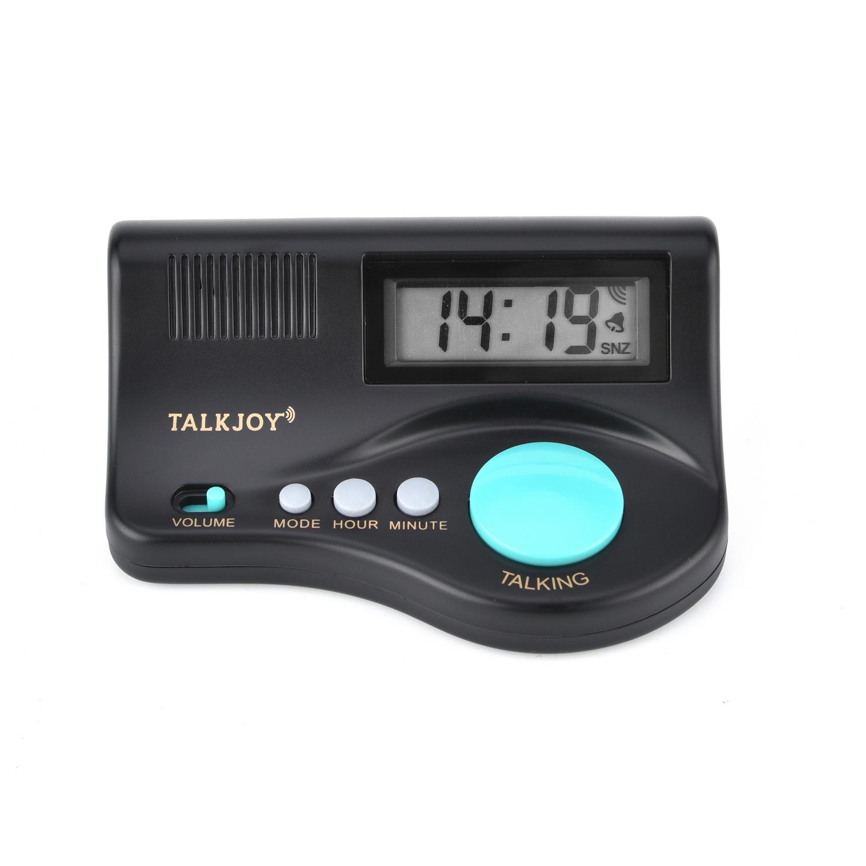 DE Sprechender Wecker Digitale Sprechende Uhr Sprachwiedergabe Alarm Blindenuhr