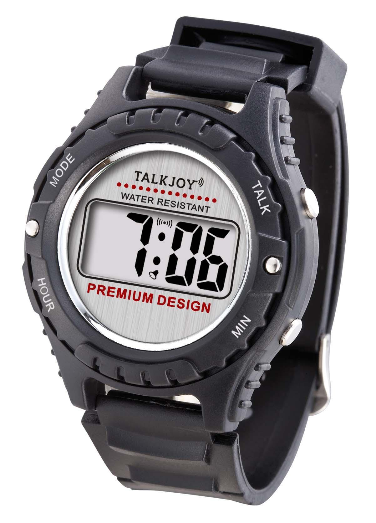 Sport Armbanduhr Sprachfunktion Zeitansage Uhr für Blinde Blindenuhr Wasserfest
