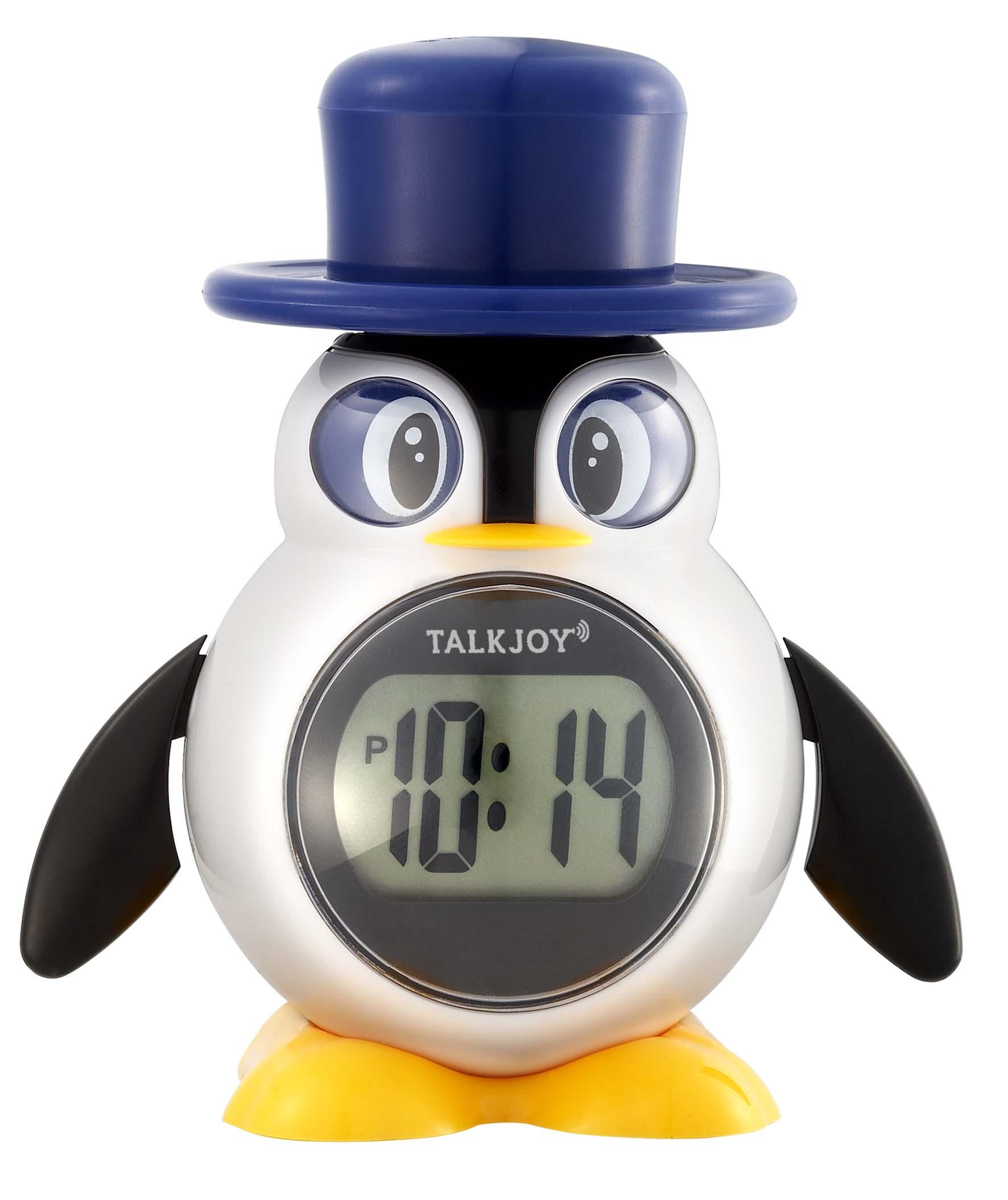 Sprechende Kinderuhr Uhr Zeitansage Sprachfunktion Pinguin Wecker Kinderwecker