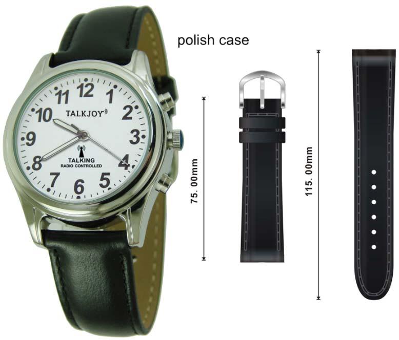 PROFI Lederband Leder Armband für Armbanduhr schwarz Echtleder Band Damen Herren