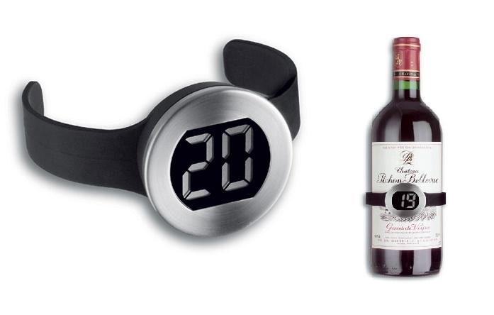 PREMIUM Weinthermometer Weinflasche Thermometer Wein Temperatur Messer messen