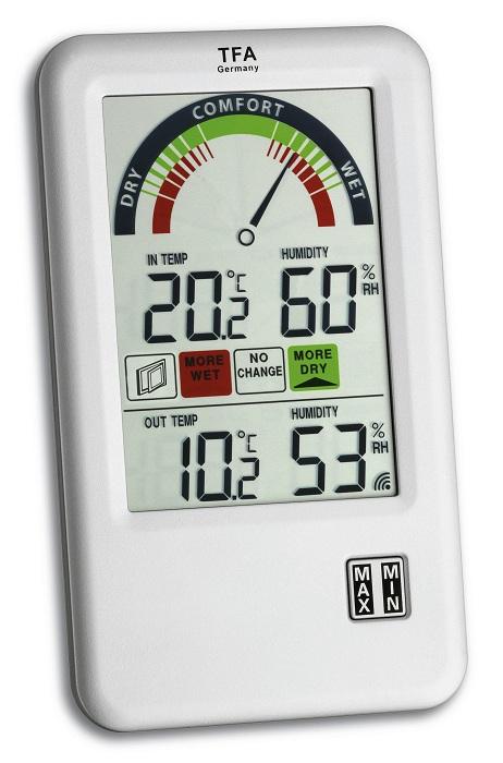 PROFI Funk Thermometer Hygrometer mit Lüftungsempfehlung gesundes Raumklima