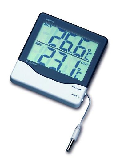 PROFI Digitales Innen- und Außenthermometer Thermometer Temperatur außen innen