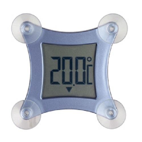 PROFI Fensterthermometer Thermometer Fenster großer Display Außenthermometer