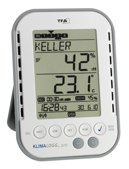 PRO Thermometer Hygrometer mit Datenlogger Temperatur Feuchte ÜBERWACHUNG Alarm