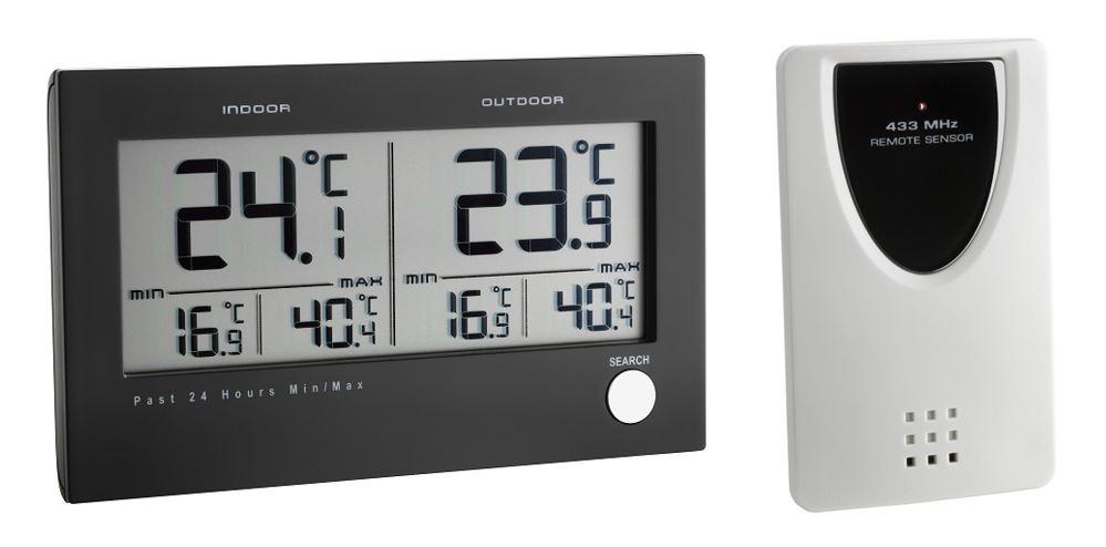 PROFI Funk Thermometer Innenthermometer Außenthermometer mit Alarm Frostwarner