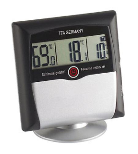 PROFI Thermometer Hygrometer Schimmelwarner Schimmelmesser Schimmelgefahr ALARM