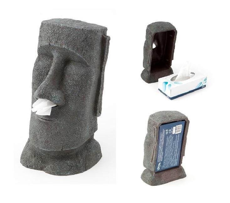 Moai Taschentuchspender Taschentuch Halter Maori Maui Statue Geschenktipp Box