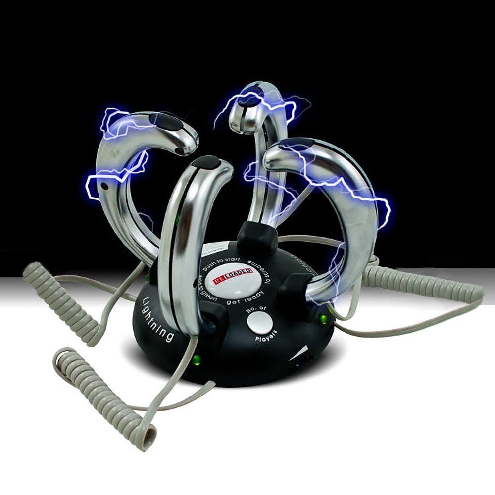 EXTREME Elektroschock Spiel Reaktionsspiel Saufspiel Kick elektrischer Schlag