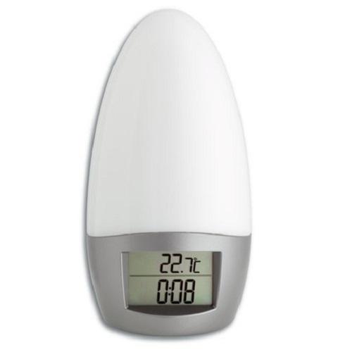 PREMIUM Radio Wecker Radiowecker m Sonnenaufgang Naturklänge Snooze Thermometer