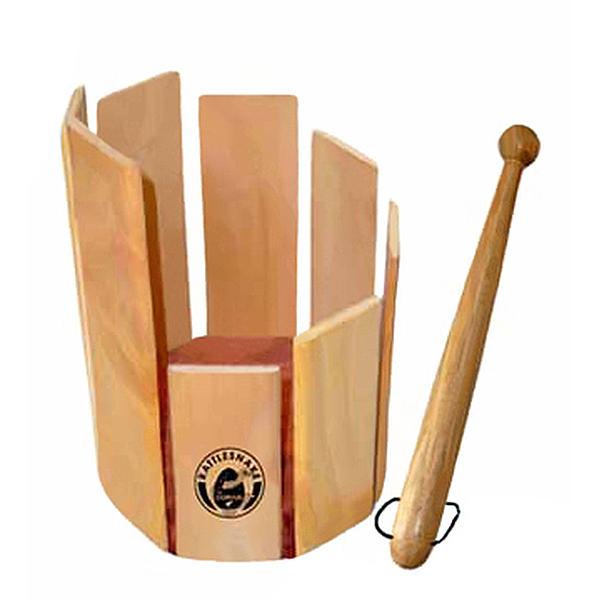 PREMIUM Rühr Trommel Rührtrommel rundes Holz Glockenspiel Holzstab Musik spielen
