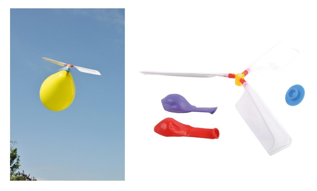 Luftantrieb Ballon Helikopter Luftballon wie ferngesteuerter Hubschrauber FLIEGE