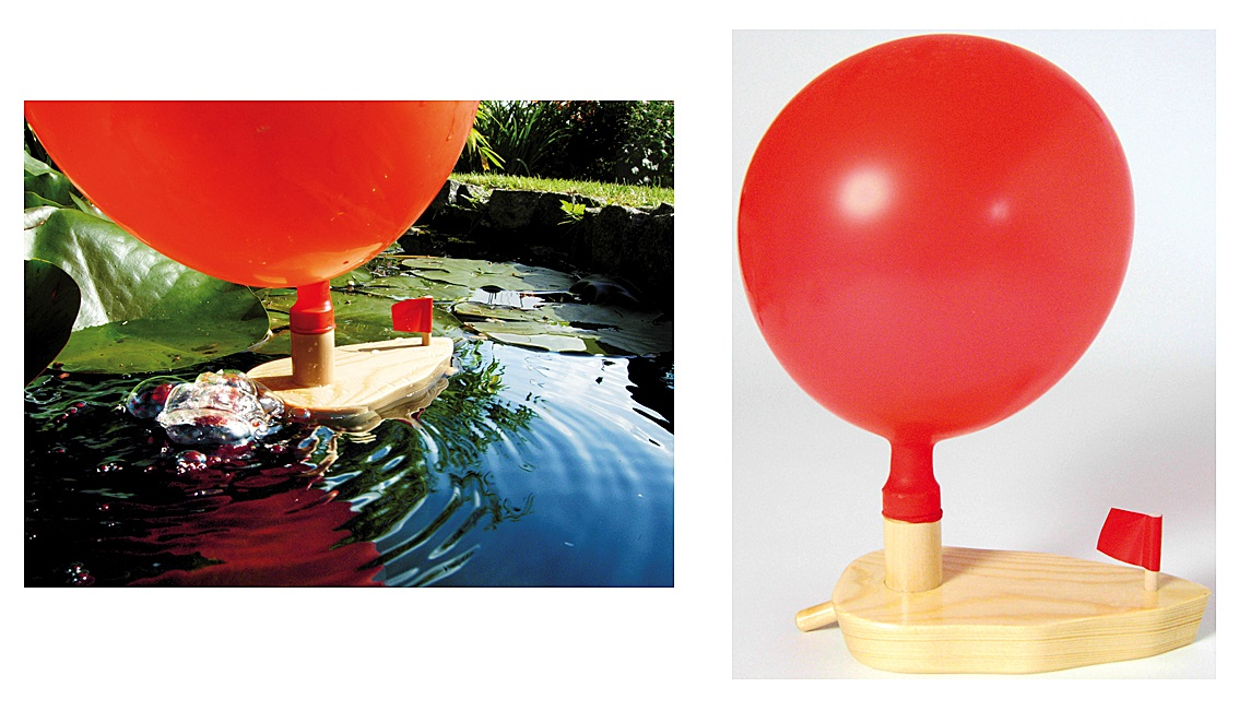 Knatterboot Ballonboot Luftballon Wasser Boot wie ferngesteuertes Motorboot