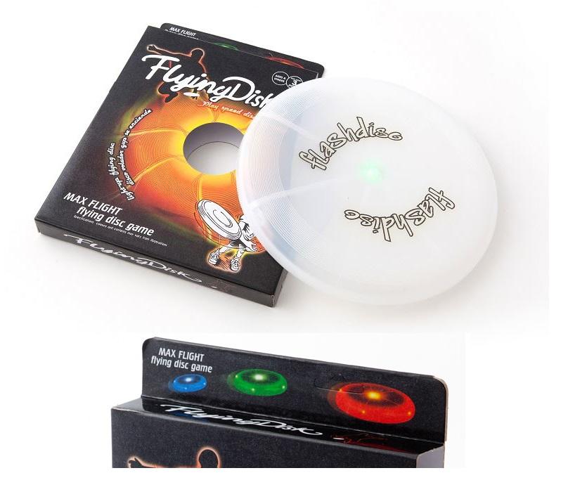 LED Frisbee beleuchtete Wurfscheibe beleuchteter Wurfring leuchtet im Dunkeln