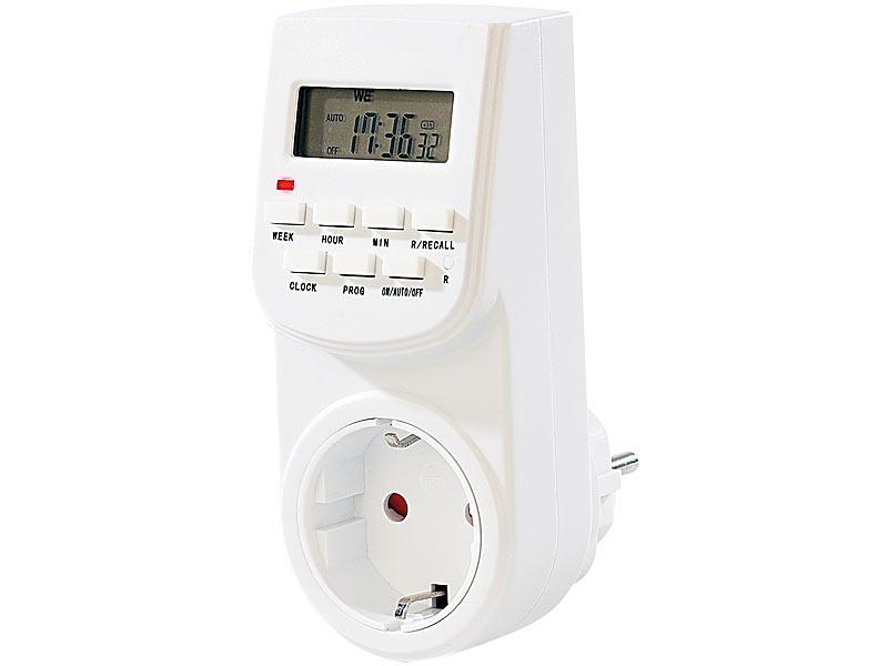 PRO Digitale minutengenaue Zeitschaltuhr Zeitschalter Uhr Steckdose Strom sparen