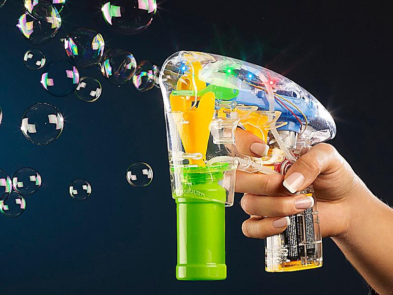 LUXUS Seifenblasenpistole Seifenblasen Pistole Maschine 2x Seifenblasenlösung