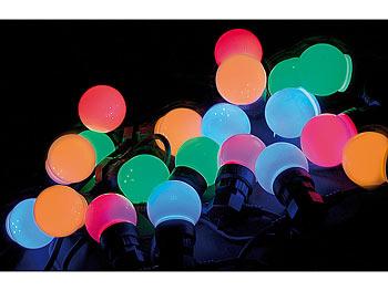 EDEL XXL Party-Lichterkette mit 20 bunte LED Glühbirnen Lichter für innen außen