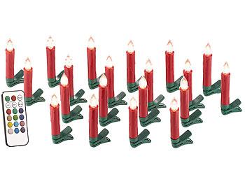 profi 20 rote led kerzen f r den weihnachtsbaum weihnachten mit fernbedienung. Black Bedroom Furniture Sets. Home Design Ideas