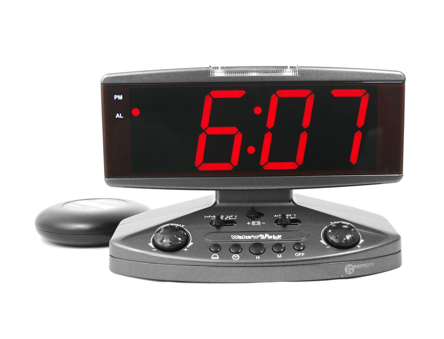 WECKER Jumbowecker 95dB Blitz & Vibration Wake n' Shake vibrierdender Uhr