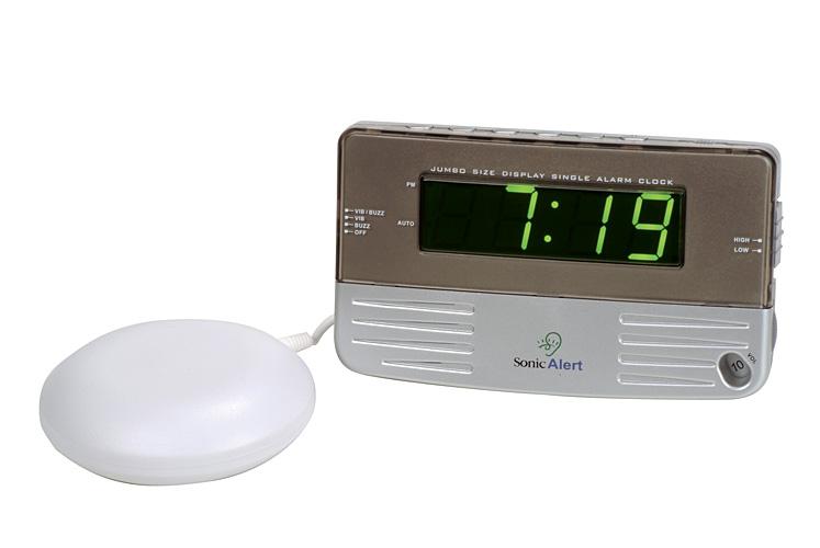 Reisewecker hörgeschädigte Wecker mit extra-lautem Alarm (95dB) Bedside Traveler