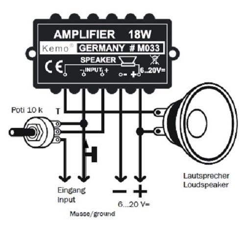 PROFI M033 Verstärker Universalverstärker amplifier Endstufe Geräuschverstärker