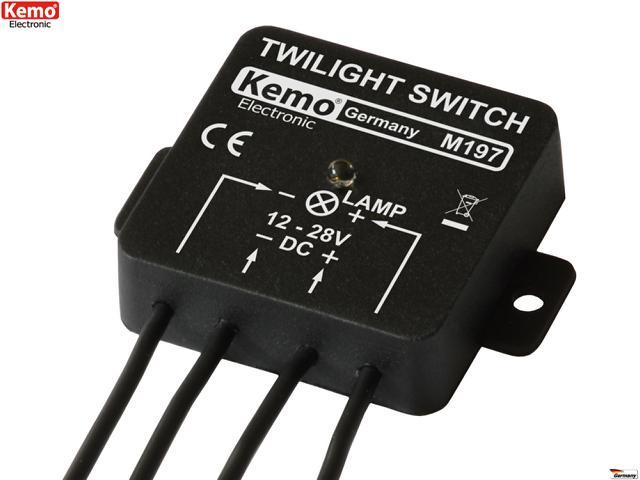 Dämmerungsschalter 12-28V M197 Dämmerungssensor Licht Lampe LED Motor Boot Akku
