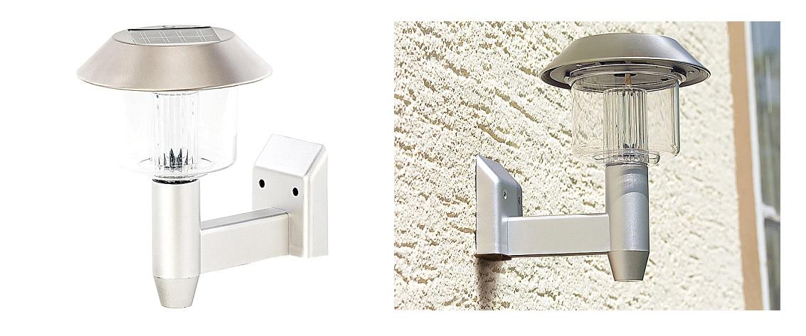 PRO Solar-Wand-Leuchte LED Außenlicht Lampe Kabellos Batterie Wandlampe Terrasse
