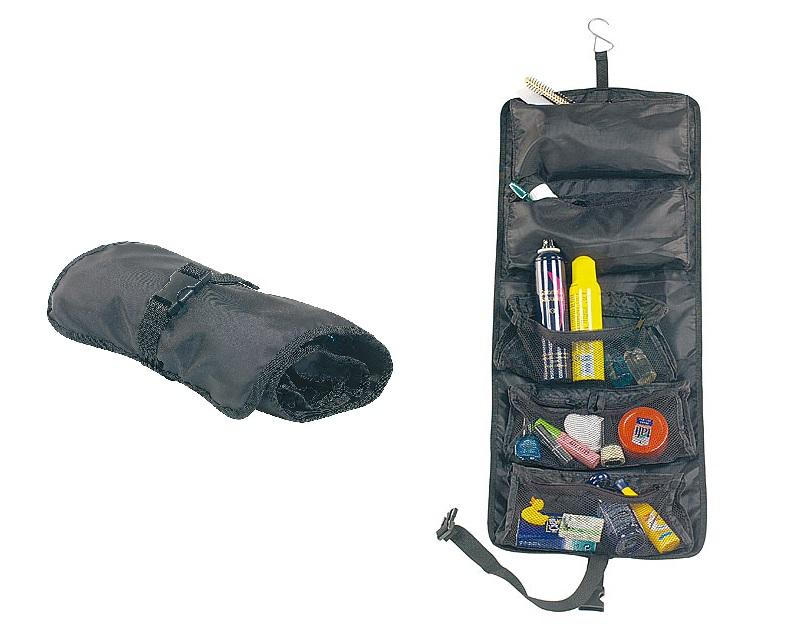 PREMIUM aufrollbarer Reise-Kulturbeutel zum Aufrollen Reisetasche Hygienebeutel