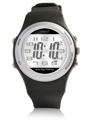 Profi Digitale Armbanduhr mit Sprachfunktion Ansage Uhrzeit Wochentag Wecker Uhr
