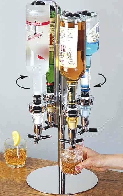 ALKOHOL Flaschenhalter Bar Butler Schnaps zapfen Zapfanlage Flaschen Aufsteller