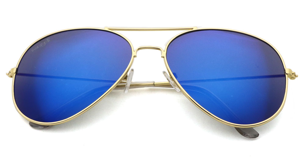 Sonnenbrille Blau Gold Transparent